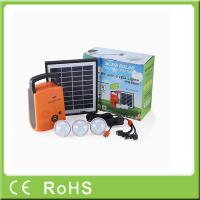 Quality 4W 9V lithium battery with radio portable lighting panel home solar systems for sale
