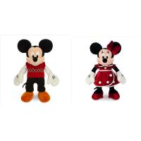 Quality Christmas Minnie Mouse and Mickey Mouse Disney Plush Toys 40cm for sale