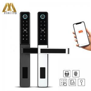 Quality TT Lock Smart Fingerprint Door Lock S874 With Tuya APP Sliding Door Lock for sale