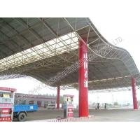 Quality Gas Station Light Steel Roof Trusses with Steel Space Frame Canopy for sale