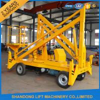 Quality Work Platform Trailer Mounted Boom Lift , 15m 200kgs Automatic Mobile Towable Boom Lift for sale