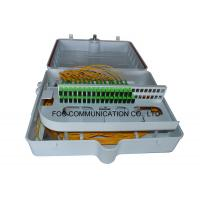 Quality ABS Fiber Optic Termination Box 48 Port With Pre - Installed Fiber Splitters for sale
