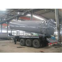 Quality Tri Axles Vac Semi Septic Pump Trailer For Off Road And Oil Field Operation 28000 L for sale