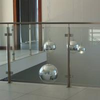 Quality 304 Stainless Steel Post Tempered Glass Balcony Railing Design for sale