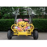 Quality Yellow Cool Side By Side Go Kart Hydraulic Brake Three Speeds with Reverse for sale