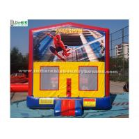Outdoor Spiderman Module Inflatable Bounce Houses For Birthday Party