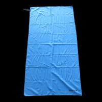 Quality Sun Shine China sublimation blue microfiber beach towel with loop for sale
