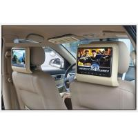 China Back Hanging Car Headrest Monitor Beige Color 1080P Multiple Format Video Decoding on sale