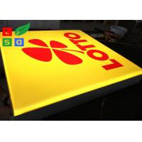 Quality Wall Mounted LED Outdoor Light Box , Silk Screen Printed Logo LED Advertising Signs for sale