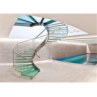 Buy cheap Indoor Glass Sprial Staircase with Stainless Steel Railing for Small Space from wholesalers