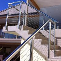 Quality Outdoor Stainless Steel Wire Balustrade / Railing for Balcony for sale