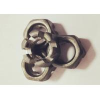 Quality GB60 Q235 Slotted Hex Nut , M16 X 1.5 Castle Nut 14mm Thickness Anti Rust for sale