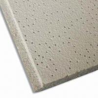 Quality Mineral Fiber Ceiling Board with 3 to 12mm Thickness, Customized Sizes are Accepted  for sale