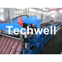 China Steel Structure Glazed Roof Tile Panel Roll Forming Machine on sale