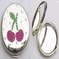 Quality Metal Cosmetic Mirror, Decorated with Swarovski Crystal Stones for sale