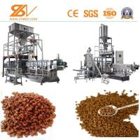 Quality Twin Screw Pet Kibble Dog Food Machine SLG85 500-600 KG/H Puffed for sale