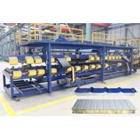 Quality Wall Insulation PPGI EPS Sandwich Panel Making Machine OMRON Coding Control System for sale
