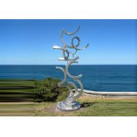 Quality Contemporary Art Stainless Steel Sculpture For Outdoor Decoration Anti Corrosion  for sale