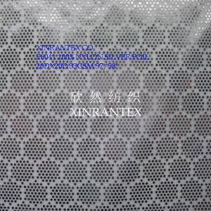 F6041 summer sun-protective cloth fabric 100%nylon taffeta silver foil finishing
