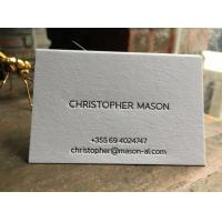 China High End Letter Press Business Cards , Pantone Printing Business Cards on sale