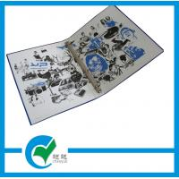 Quality OEM Blue 4 Ring Binder Cardboard Binder File Folder with Customized Logo for sale