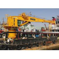 Quality Marine crane 40t hydraulic crane with ABS Class and advanced components for sale