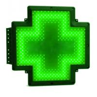 Quality P10 Digital Green Pharmacy Cross Sign Animated Double Faced Waterproof IP65 for sale