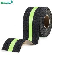 Quality Traction Abrasive Adhesive Non Skid Tape With Reflective Stripe Single Sided for sale