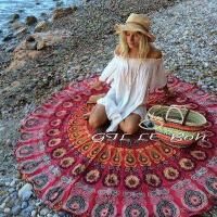 Quality Sun Shine Custom Made Printed Microfiber Turkish Round Beach Towel for sales for sale