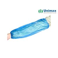 Quality Blue 22x46cm CPE Disposable Sleeve Cover For Sanitary for sale