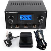 China ABS Tattoo Power Unit , Tattoo Machine Power Supply Kit With Foot Switch And Cord on sale