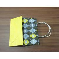 Quality Laminated paper handbag with round twist paper handle printing for sale