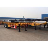 Quality Tri Axle 40 Ft Gooseneck Skeleton Semi Trailer For Chemical Tanker Container for sale