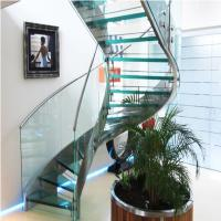 Quality High Quality Indoor / Outdoor Stair Steps Lowes for Carbon Steel Curved Staircase with Open Riser Steps for sale