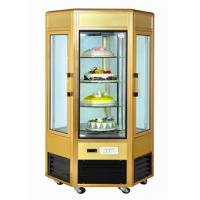Quality 6 Door Food Showcase Refrigerator Rotating Countertop Display For Confectionery for sale