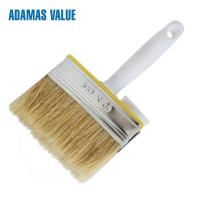 Quality Plastic Handle Natural Bristle Paint Brush With Natural Pig Bristle for sale