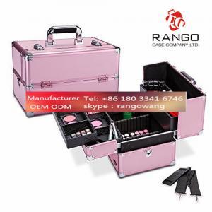 Quality Pro Makeup Artist Aluminum Train Case, Cosmetic Storage for sale