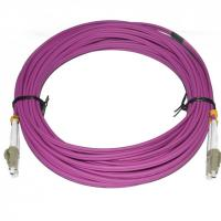 Quality PVC Material Fiber Optic Patch Cord 10 Meter Length LC DX MM 2.0 Diameter For CATV for sale