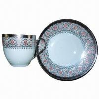 China Fine Porcelain Tea Cup and Saucer on sale