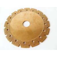 Quality 6 Inch Electroplated Corrugated Teeth Dry Cut Diamond Blade For Granite And Sandstone for sale