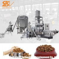 Quality Twin Screw Pet Food Extruder Machine Pet Feed Processing Machine Lively Shape Plant Simens Motor for sale