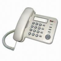 Quality Basic Slimline Corded Speaker Telephone with Speed Dial, LED Indicator, SD Card Recording/Answering for sale