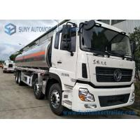Quality Dongfeng 8*4  27.5cbm Fuel Tank Trailer 340HP  Aluminium Alloy For Transporting Oil for sale