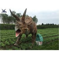 Buy Life Size Farm Animal Models , Full Size Triceratops Dinosaur Lawn Sculpture at wholesale prices