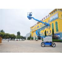 Quality Trailer Mounted Single Man Lift , Towable Articulating Boom Lift JHC Electric Dual Brake System for sale