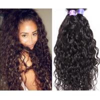 Buy 100% Raw Curly Human Hair Extensions Double Machine Weft No Shedding Fade at wholesale prices