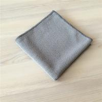 Quality Grey Microfiber Extra Thickness Pearl Cloth Car Cleaning Cloth 400gsm for sale