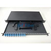 Buy cheap Black Color 19'' Fiber Optic Patch Panel with 12 SC Simplex Port from wholesalers