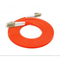 Quality 62.5 / 125 Fiber Optic Patch Cord LC LC 3.0mm Customized Length Orange Color for sale