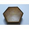 Dark Solid Wood Standing Jewelry Box , Gift Wood Hexagon Shaped Box